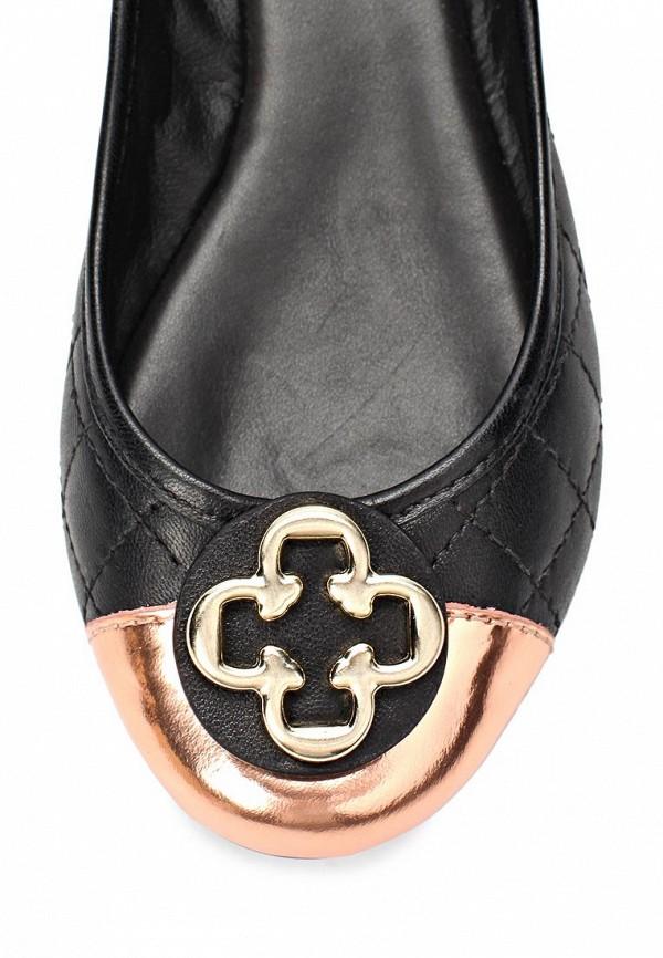 фото Балетки на каблуке Capodarte CA556AWAES93, черные/золото (кожа)