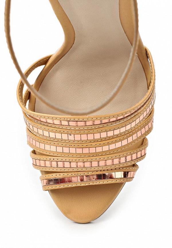 фото Босоножки на каблуке Capodarte CA556AWAET03, бежевые