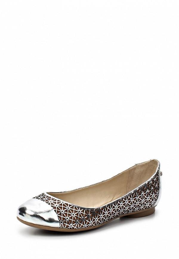 фото Балетки на каблуке Capodarte CA556AWAET08, серебряные/мультицвет
