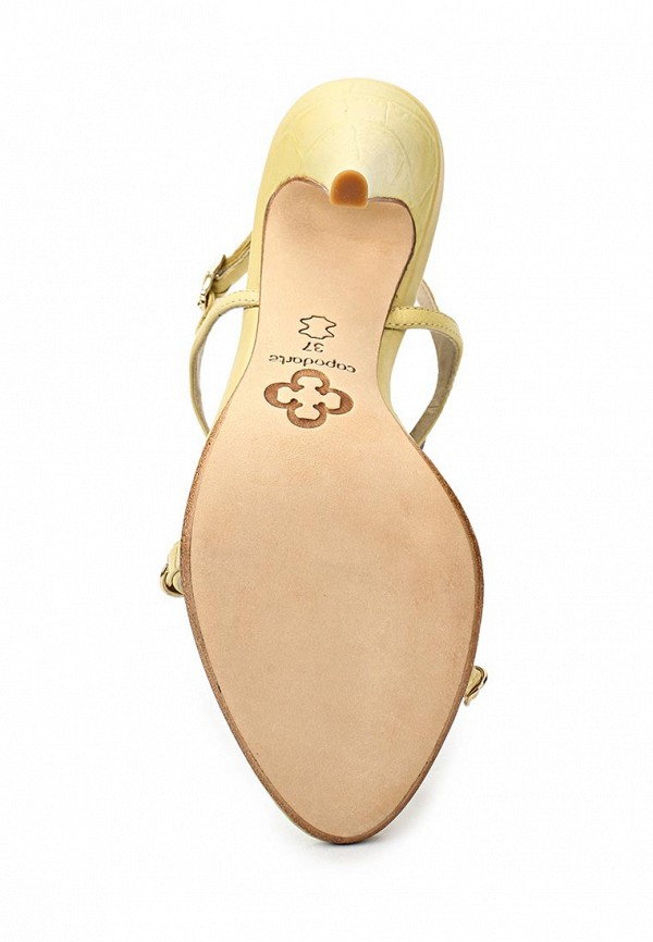 фото Босоножки на каблуке Capodarte CA556AWAET46, желтые