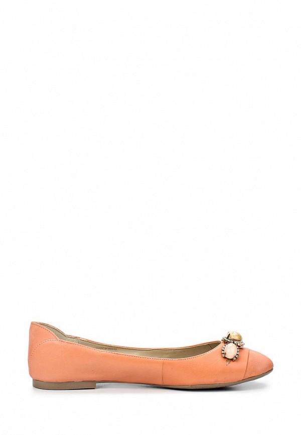 фото Балетки на каблуке Capodarte CA556AWAET51, коралловые (кожа)