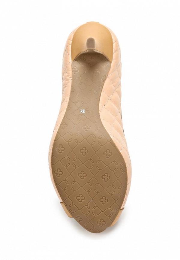 фото Туфли на каблуке с открытым носом Capodarte CA556AWARF66, бежевые