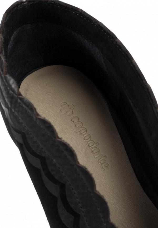 фото Ботильоны на каблуке Capodarte CA556AWKV323, черные с открытым носом