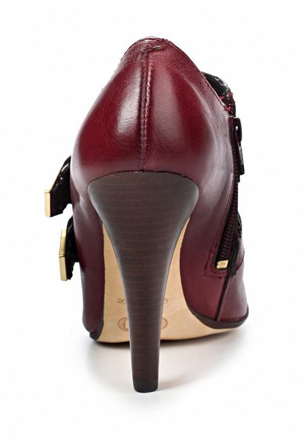 фото Ботильоны женские на каблуке Capodarte CA556AWKV325, темно-красные