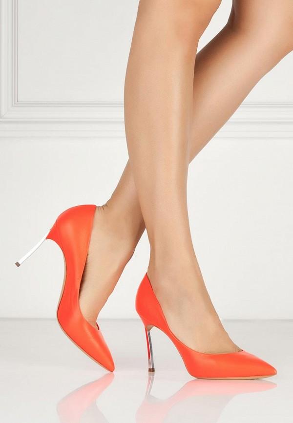 фото Туфли на каблуке-шпильке Casadei CA559AWAUF26, красные (кожа)