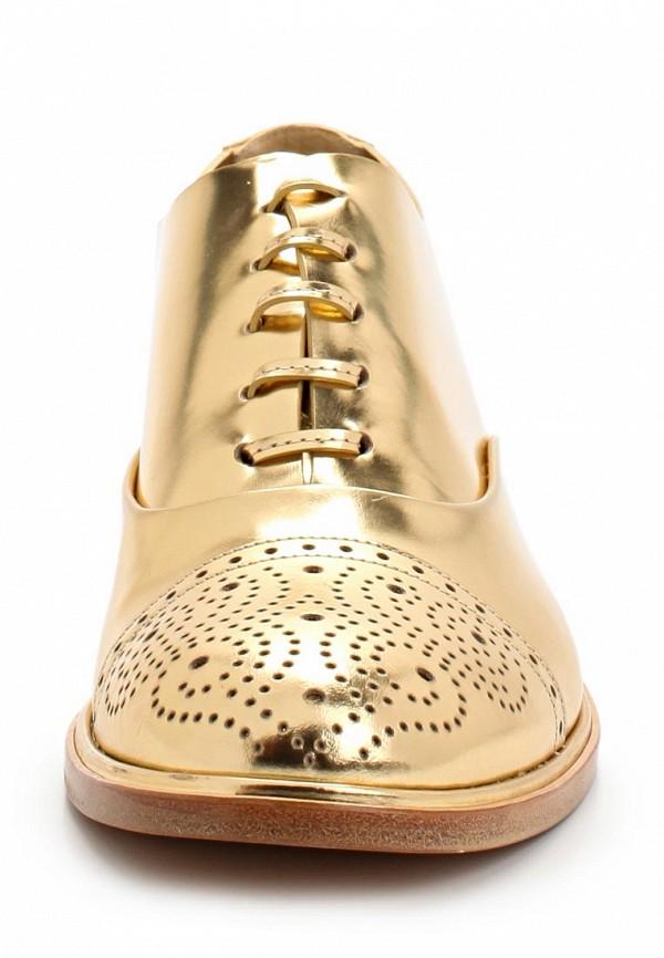 фото Полуботинки женские Casadei CA559AWAUF39, золотые (кожа-лак)