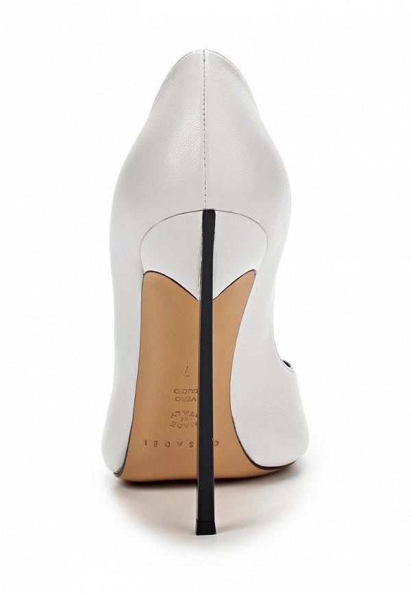 фото Туфли на шпильке Casadei CA559AWAUF66, белые с открытым носом
