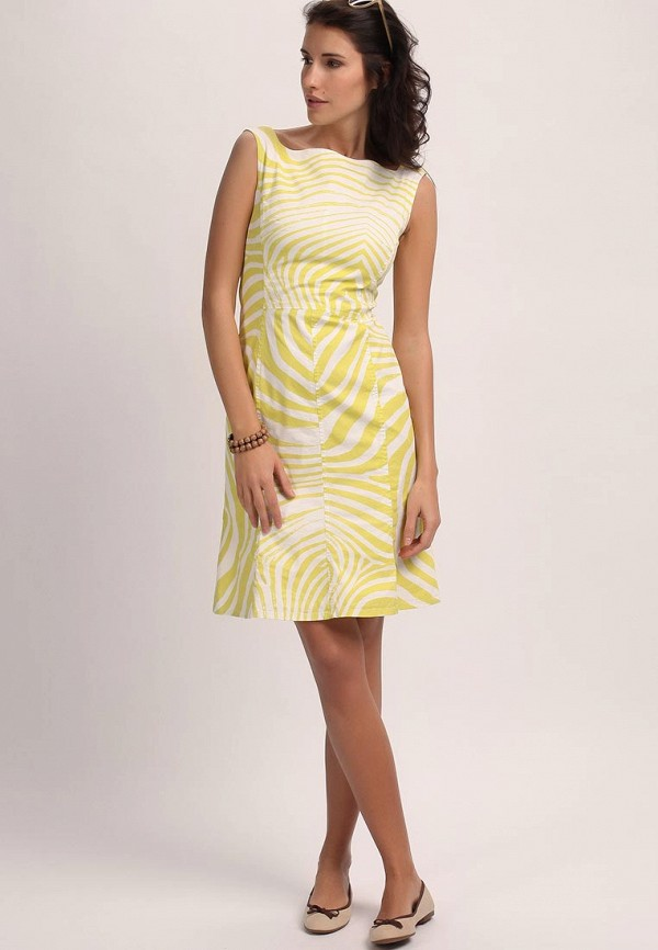 Платье Cinque CI234EWBI356. Цвет: желтый