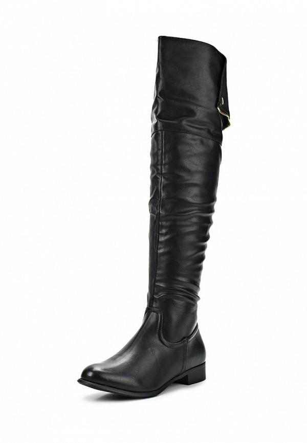 фото Женские ботфорты CLAUDIA GHIZZANI CL006AWCGD61, черные без каблука