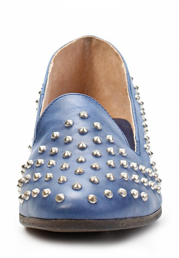 фото Лоферы женские Clodia Miro CL009AWFM984, синие/каблук
