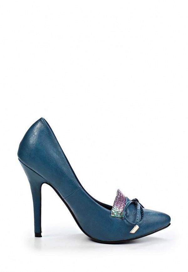 фото Туфли на высоком каблуке Clodia Miro CL009AWIX315, синие кожаные