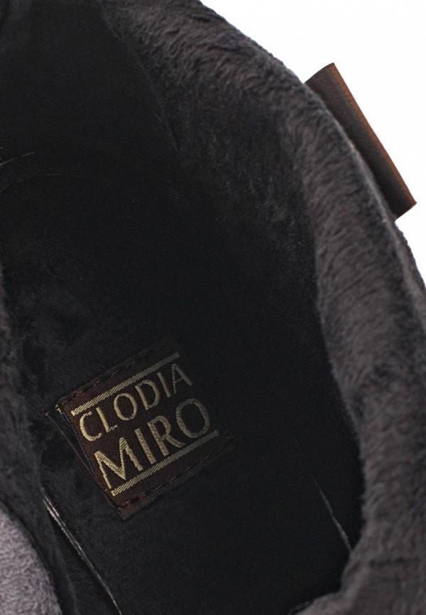 фото Ботильоны на толстом каблуке Clodia Miro CL009AWLG869, коричневые