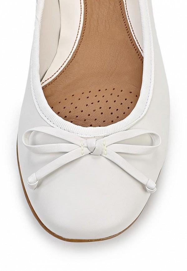 фото Балетки женские Clarks CL567AWBQA23, белые кожаные