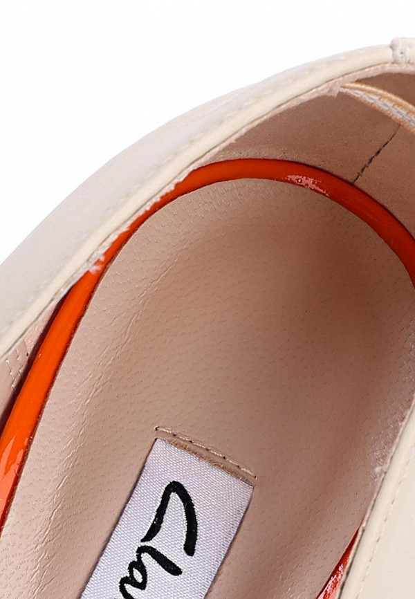 фото Туфли открытые танкетке Clarks CL567AWBQA48, белые/оранжевые