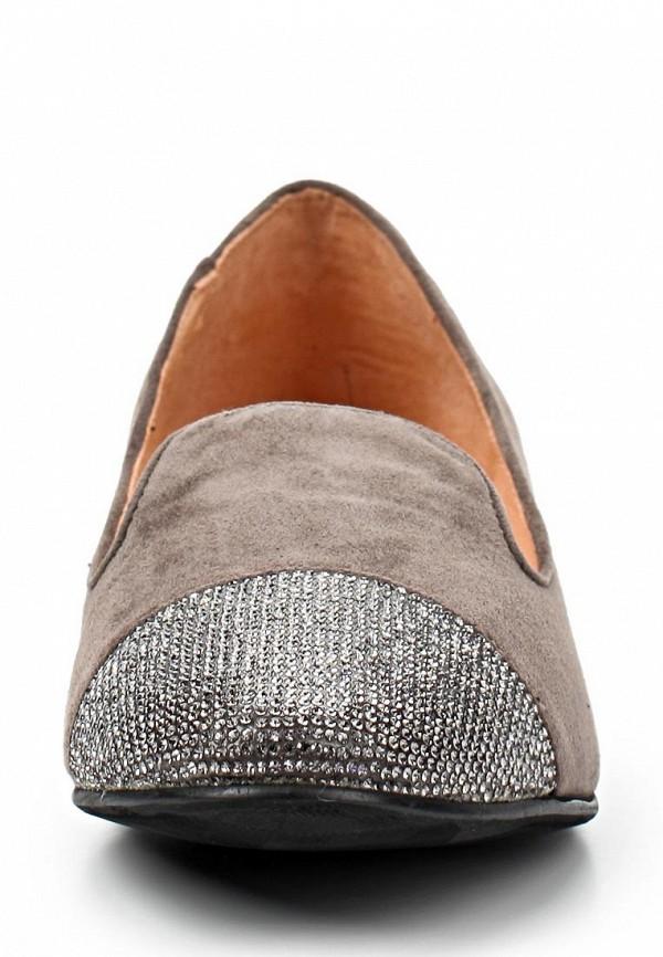 фото Лоферы женские Covani CO012AWAPH05, серо-коричневые/каблук