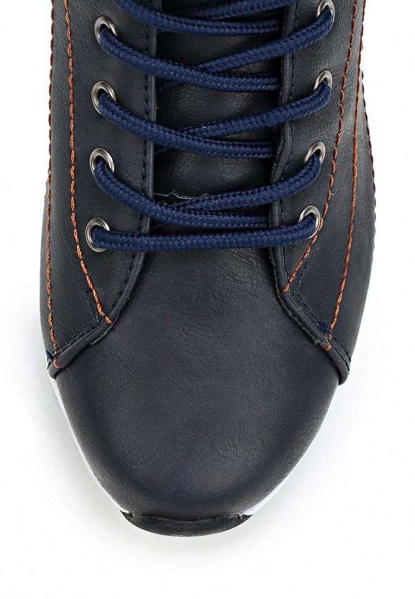 фото Кроссовки на платформе Crosby CR004AWCMD67, синие кожаные