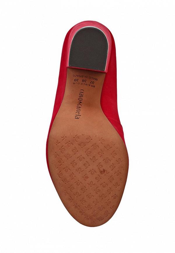 фото Туфли на толстом каблуке Cravo & Canela CR005AWCHZ39, красные (замша)