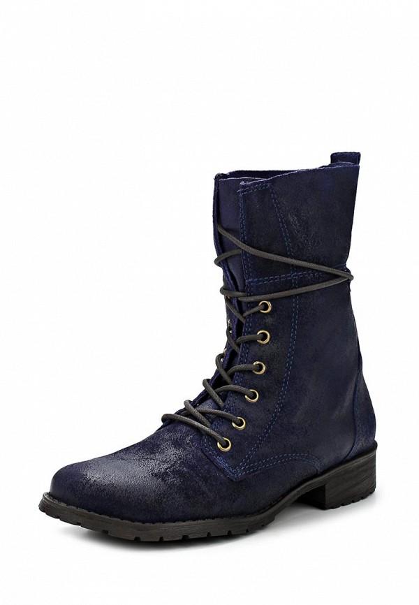 фото Полусапожки на каблуке Cravo & Canela CR005AWCHZ44, синие со шнуровкой