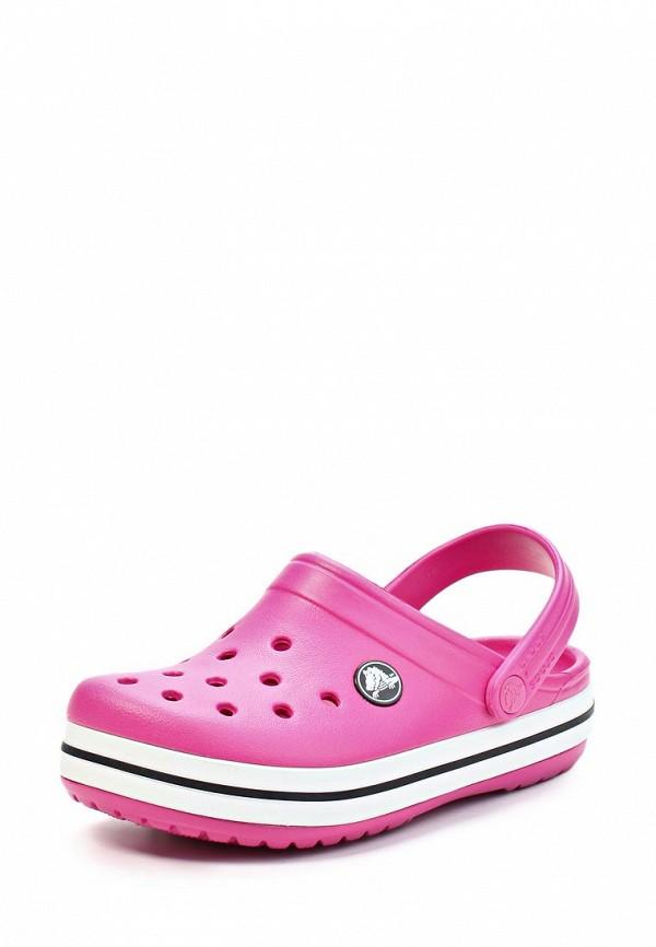 Сабо crocs, розовый цвет