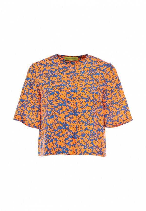Блуза Cyrille Gassiline CY911EWGN339. Цвет: оранжевый, синий