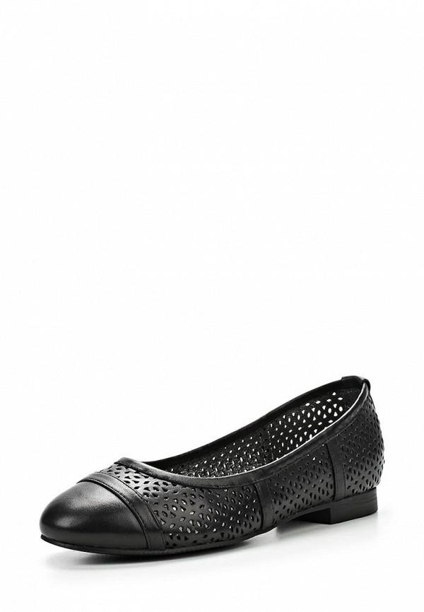 фото Балетки на каблуке Dali DA002AWBEH50, черные кожаные