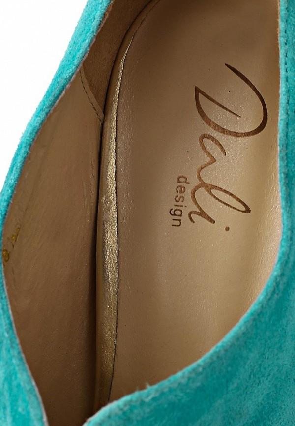 фото Туфли на высоком каблуке Dali DA002AWBEI01, бирюзовые с открытым носом