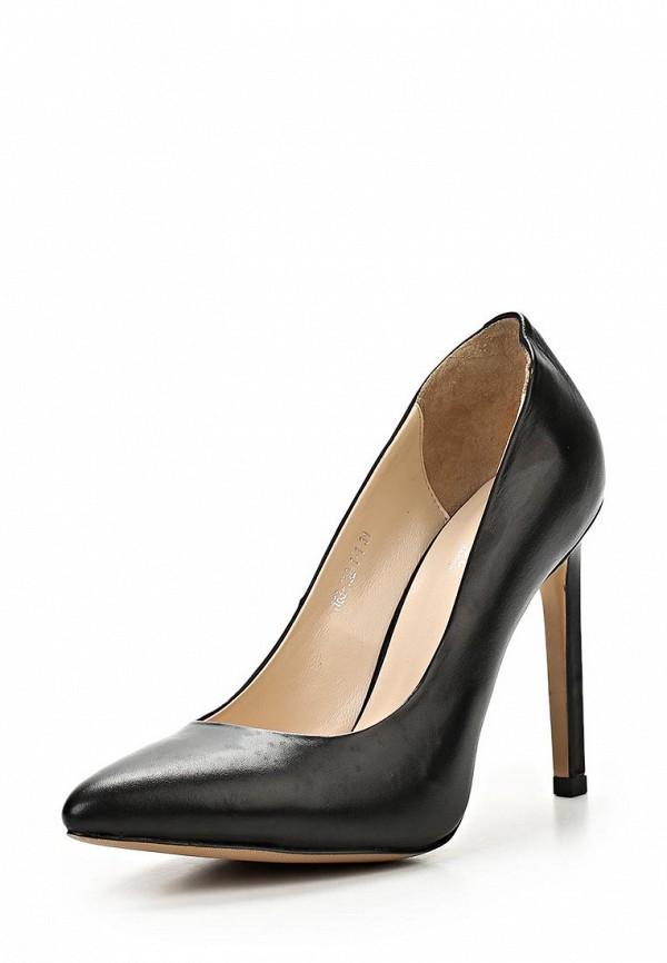 фото Туфли на высоком каблуке Dali DA002AWBEI09, черные кожаные