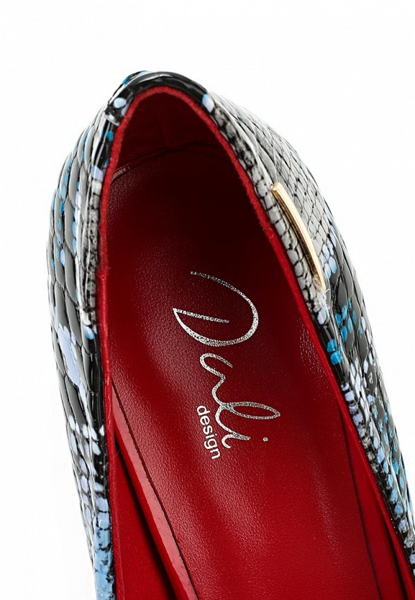 фото Туфли на каблуке-шпильке Dali DA002AWBEI13, мультицвет (под рептилию)