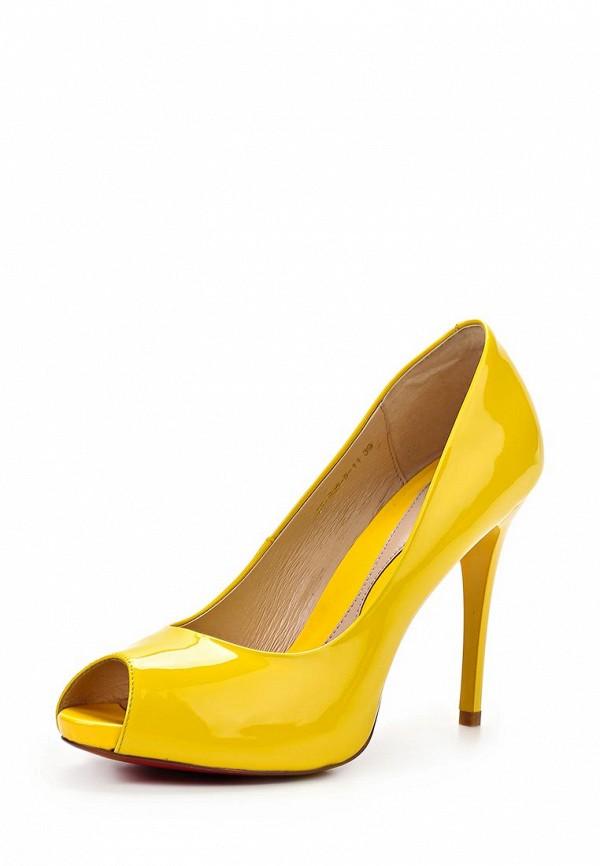 фото Лаковые туфли с открытым носом на каблуке Dali DA002AWBEI27, желтые