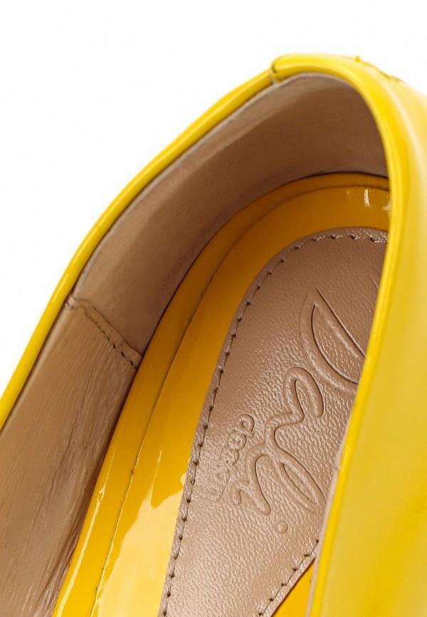 Лаковые желтые туфли купить