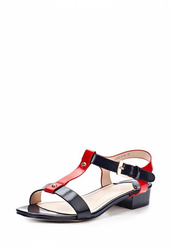 фото Сандалии женские на каблуке Daze DA921AWARO31, красно-черные