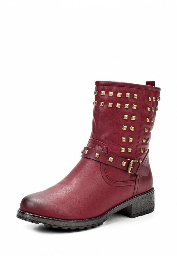 фото Женские полусапожки на каблуке Daze DA921AWCOF73, красные