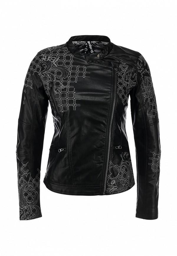 Куртка кожаная Desigual DE002EWAOE03. Цвет: черный