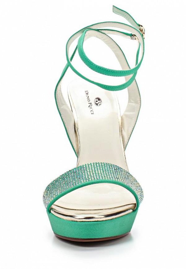 фото Босоножки на высоком каблуке Dino Ricci DI004AWBCW85, зеленые