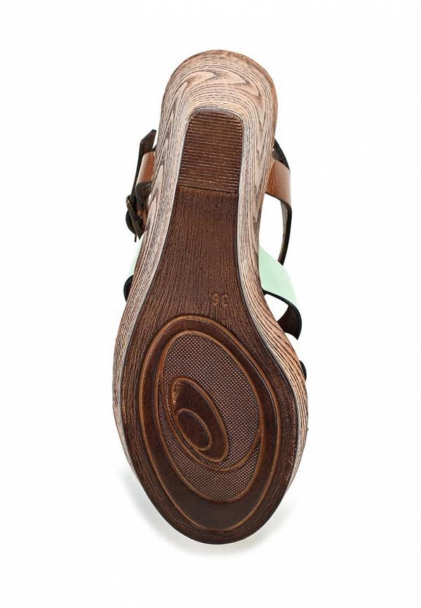 фото Босоножки на платформе Dino Ricci DI004AWBCX01, коричневые/разноцветные