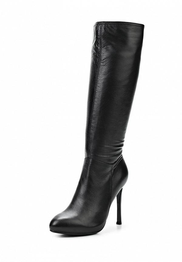 фото Сапоги женские на каблуке-шпильке Dino Ricci DI004AWCKU22, черные (кожа)