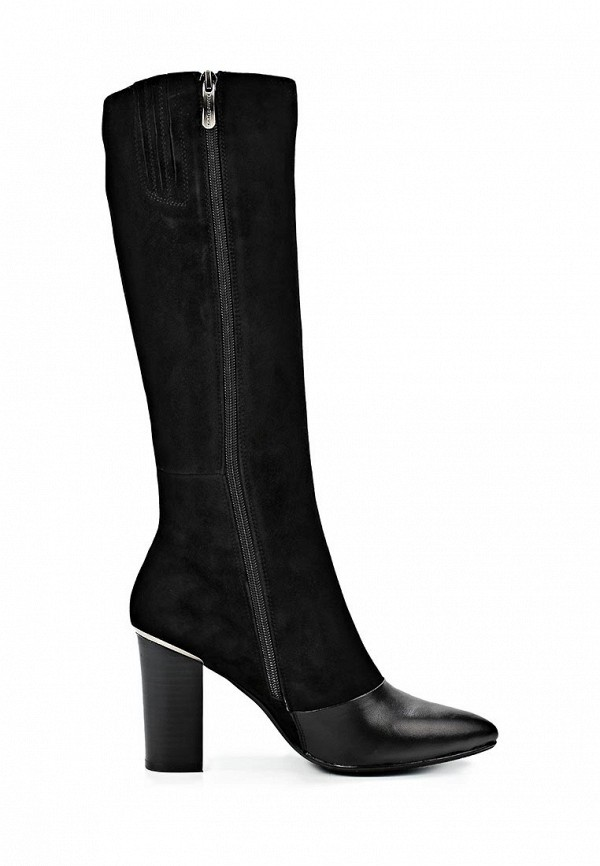 фото Сапоги женские на толстом каблуке Dino Ricci DI004AWCKV07, черные