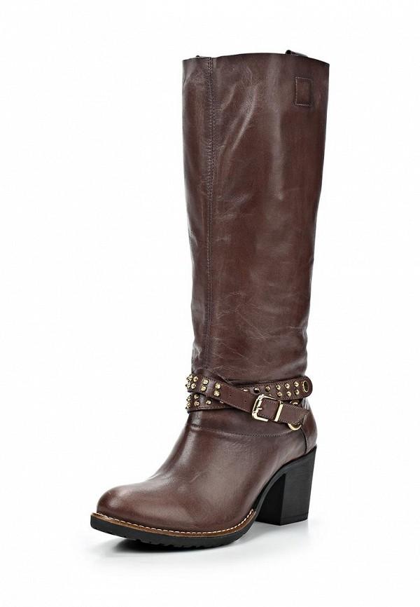 фото Сапоги женские на каблуке Dino Ricci DI004AWCKV18, коричневые кожаные