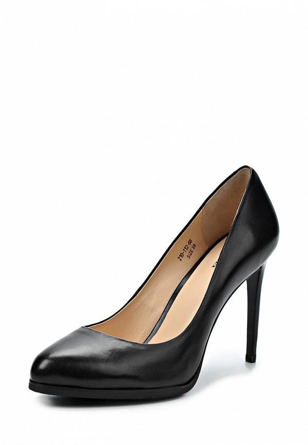 фото Туфли на высоком каблуке Dino Ricci DI004AWCKV35, черные кожаные