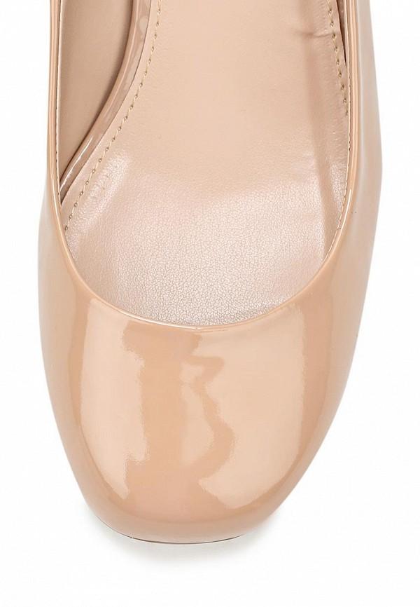фото Туфли на толстом каблуке Dorothy Perkins DO005AWCKK76, бежевые (кожа, лак)
