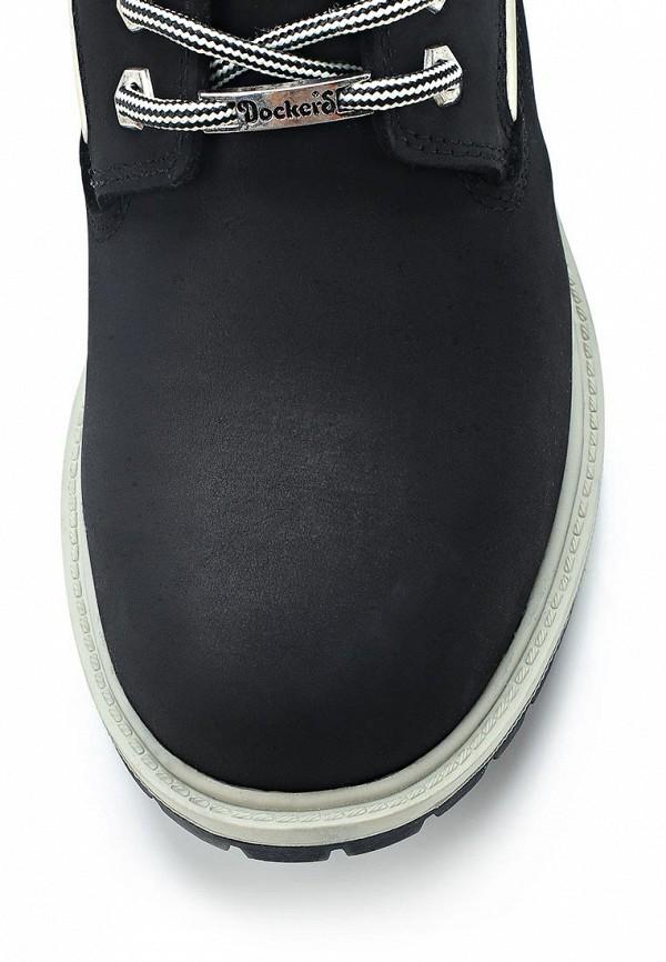 фото Ботинки-тимберленды женские Dockers DO927AWCKO50, черные на шнуровке