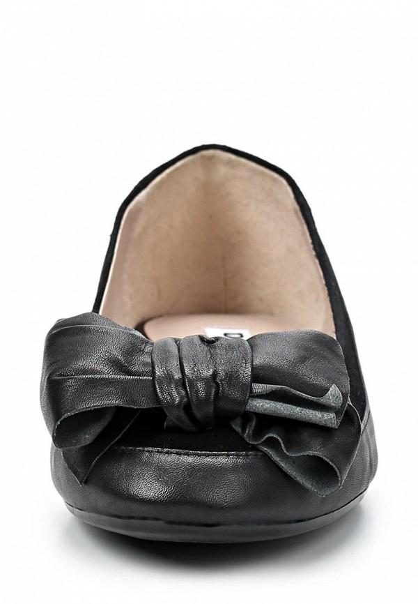 фото Балетки женские Dune DU001AWBTY91, черные кожаные