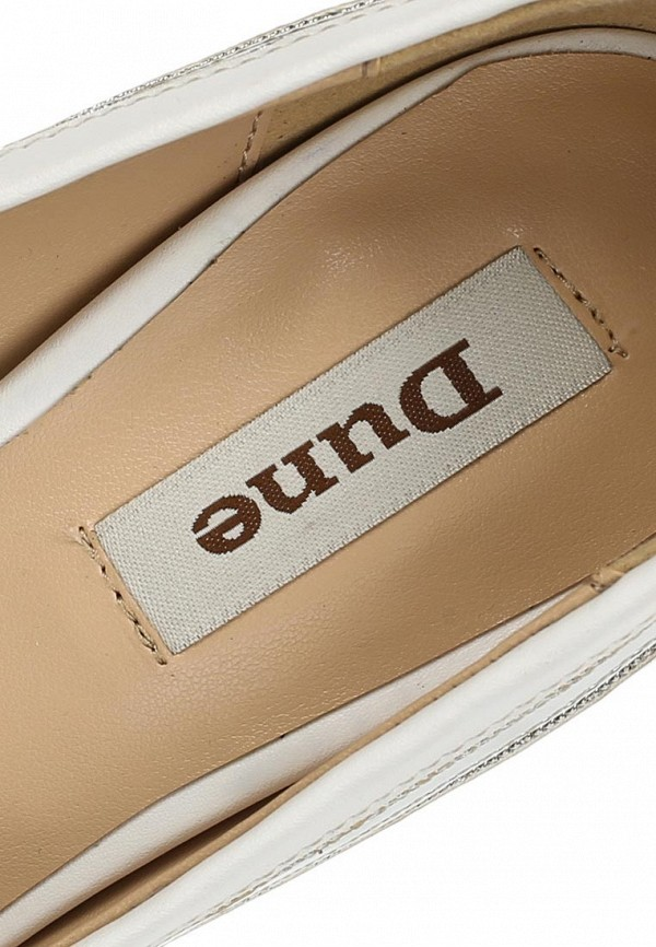 фото Туфли с открытым носом Dune DU001AWBTZ16, белые/каблук-шпилька