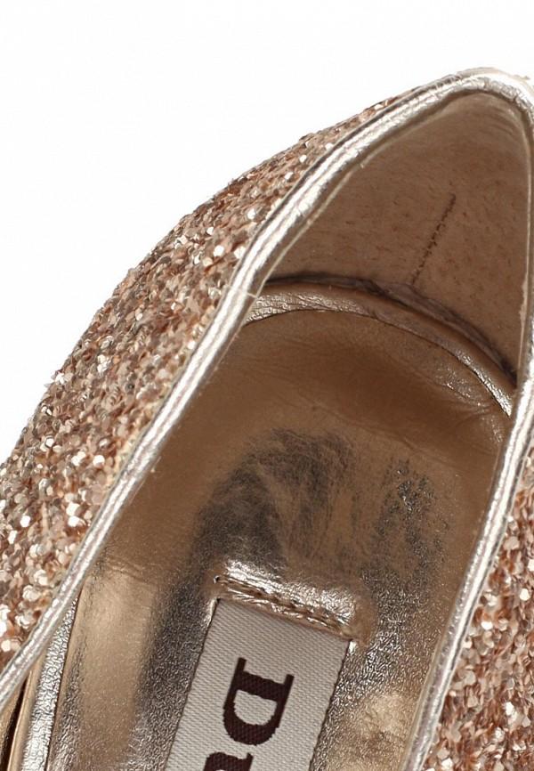 фото Туфли с открытым носом Dune DU001AWBTZ18, коричнево-золотые