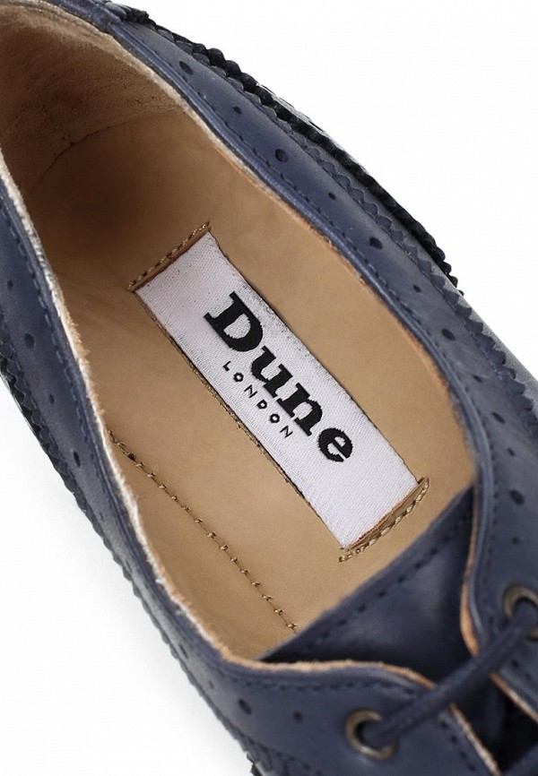 фото Полуботинки женские Dune DU001AWBVG06, синие кожаные