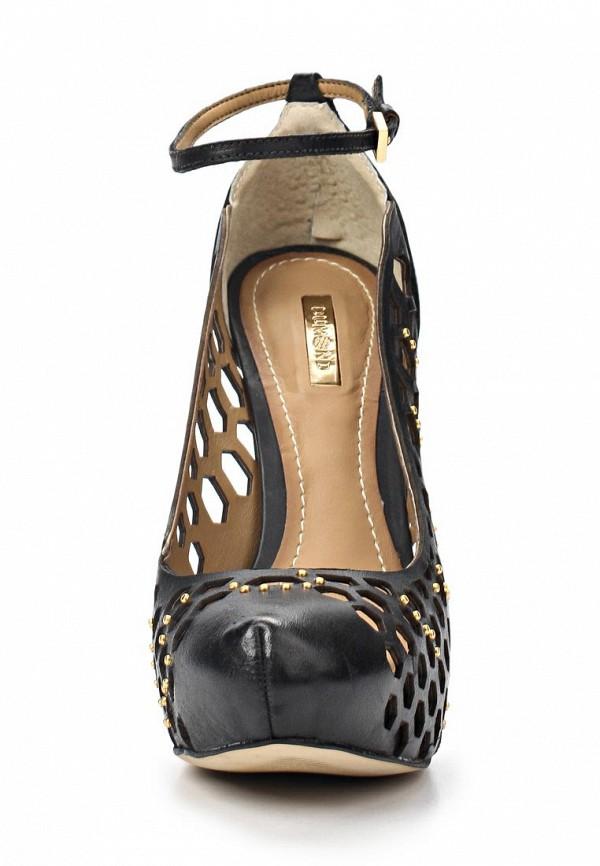 фото Туфли на платформе и каблуке-шпильке Dumond DU593AWAET73, черные