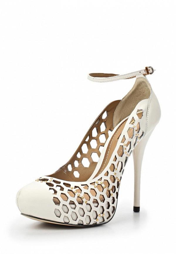 фото Туфли на платформе и каблуке-шпильке Dumond DU593AWAET74, белые
