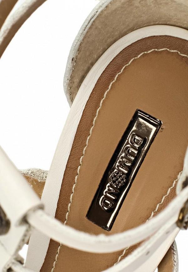 фото Босоножки на платформе и каблуке Dumond DU593AWAET80, белые