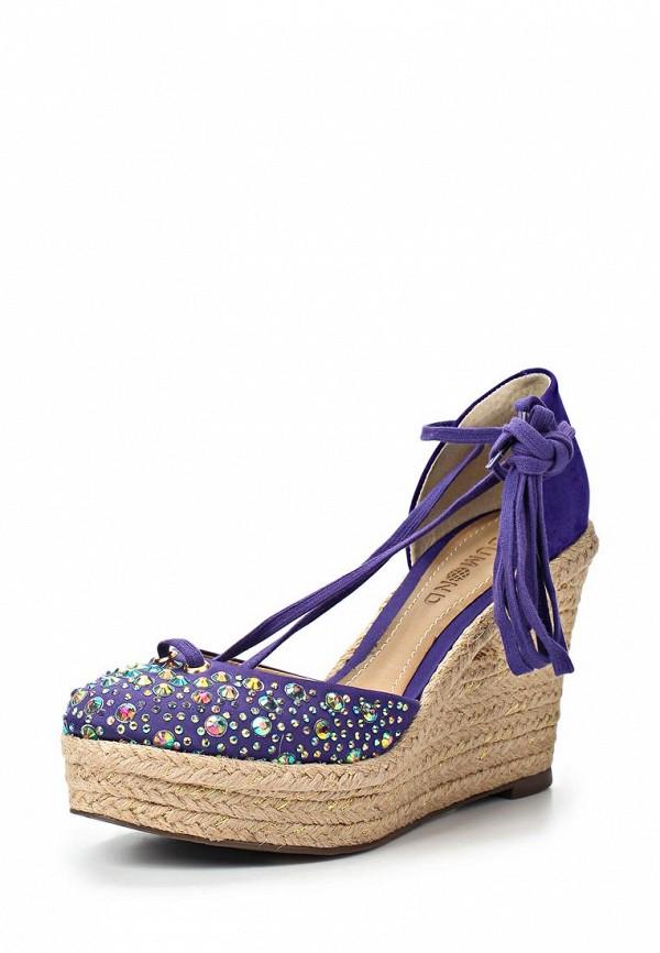 фото Эспадрильи на платформе Dumond DU593AWAET89, фиолетовые