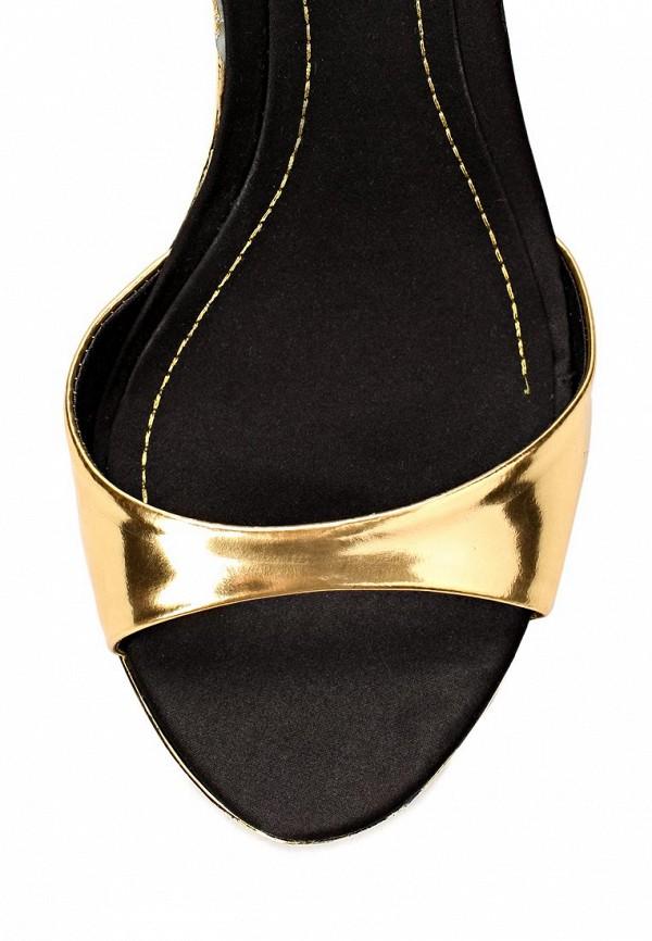 фото Босоножки на шпильке Dumond DU593AWAET94, черно-золотые